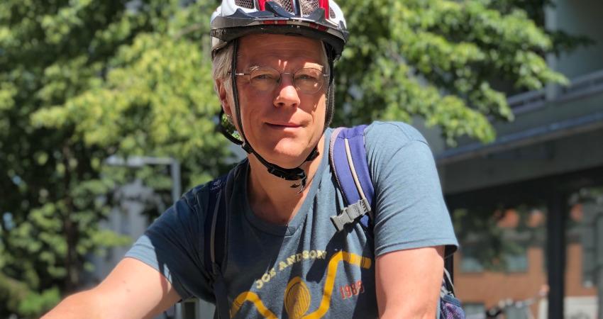 Die Anreise zu den Terminen in Oberhavel absolviert Heiner Klemp mit dem Fahrrad.